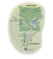 Yellowstone Wyoming Map